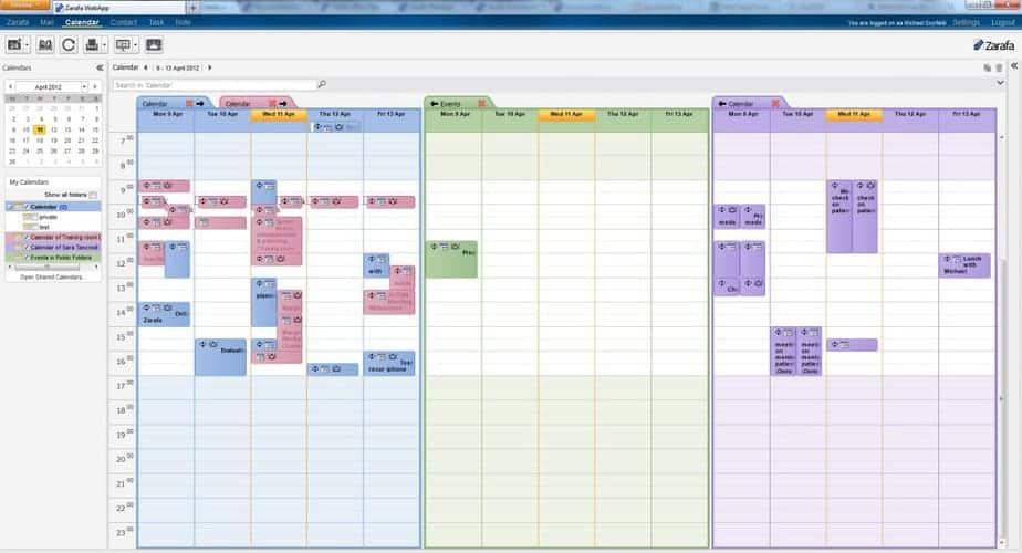 Zarafa WebApp - Calendar