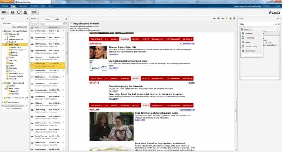 Zarafa WebApp - Mailbox